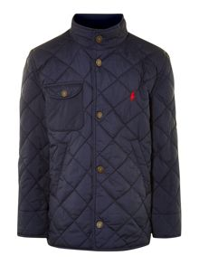 Boys showerproof quilted jacket