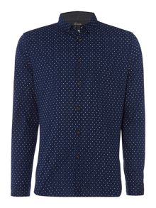 Healy Polka Square Dot Printed Long Sleeved Shirt