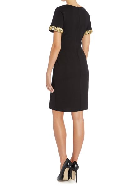 Untold Scoop neck dress with embellished cuff