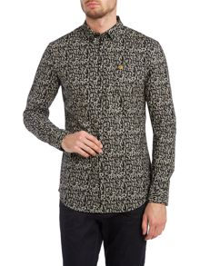 Gill triangle print long sleeve shirt