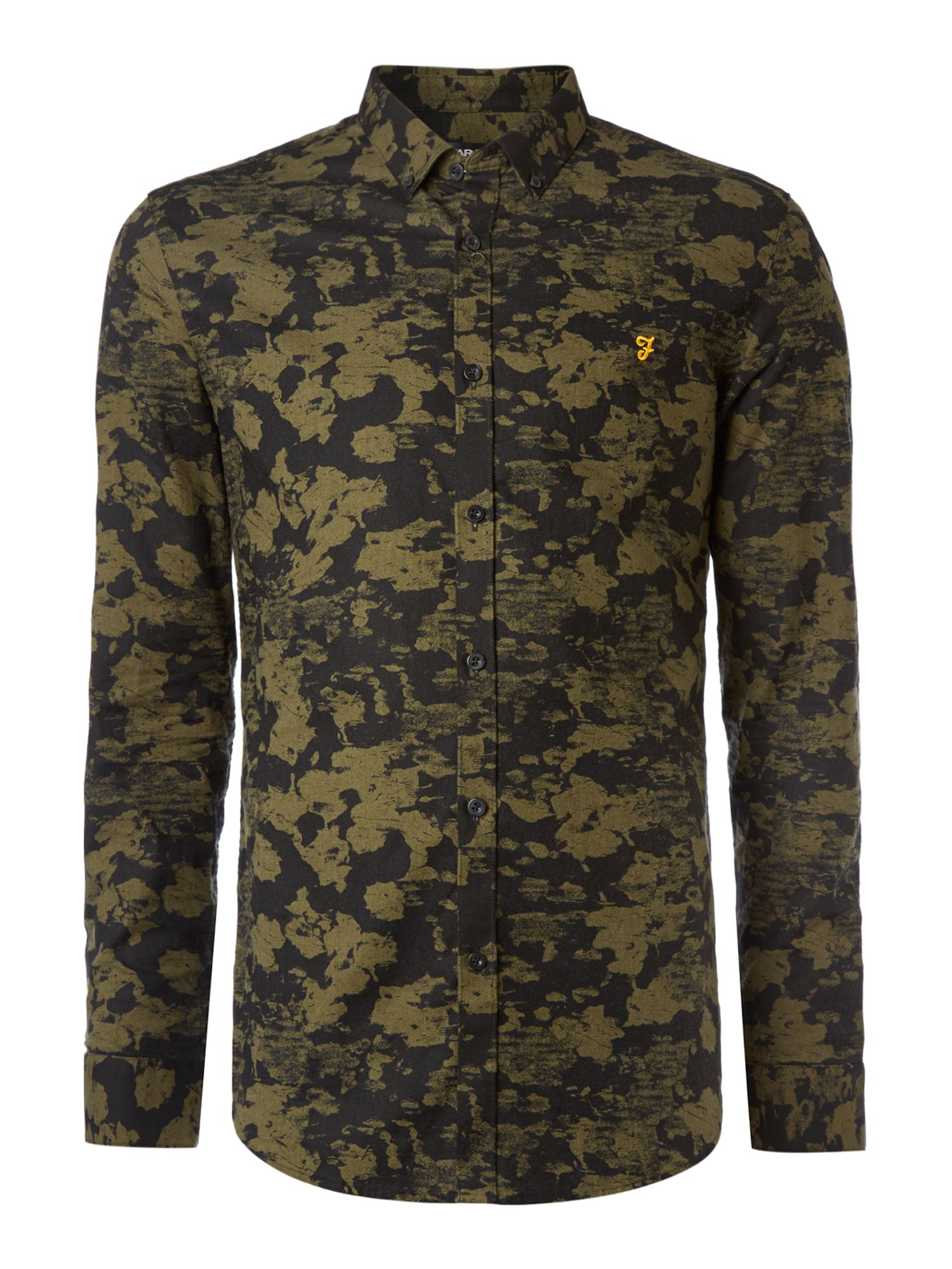 Myles paint print long sleeve shirt