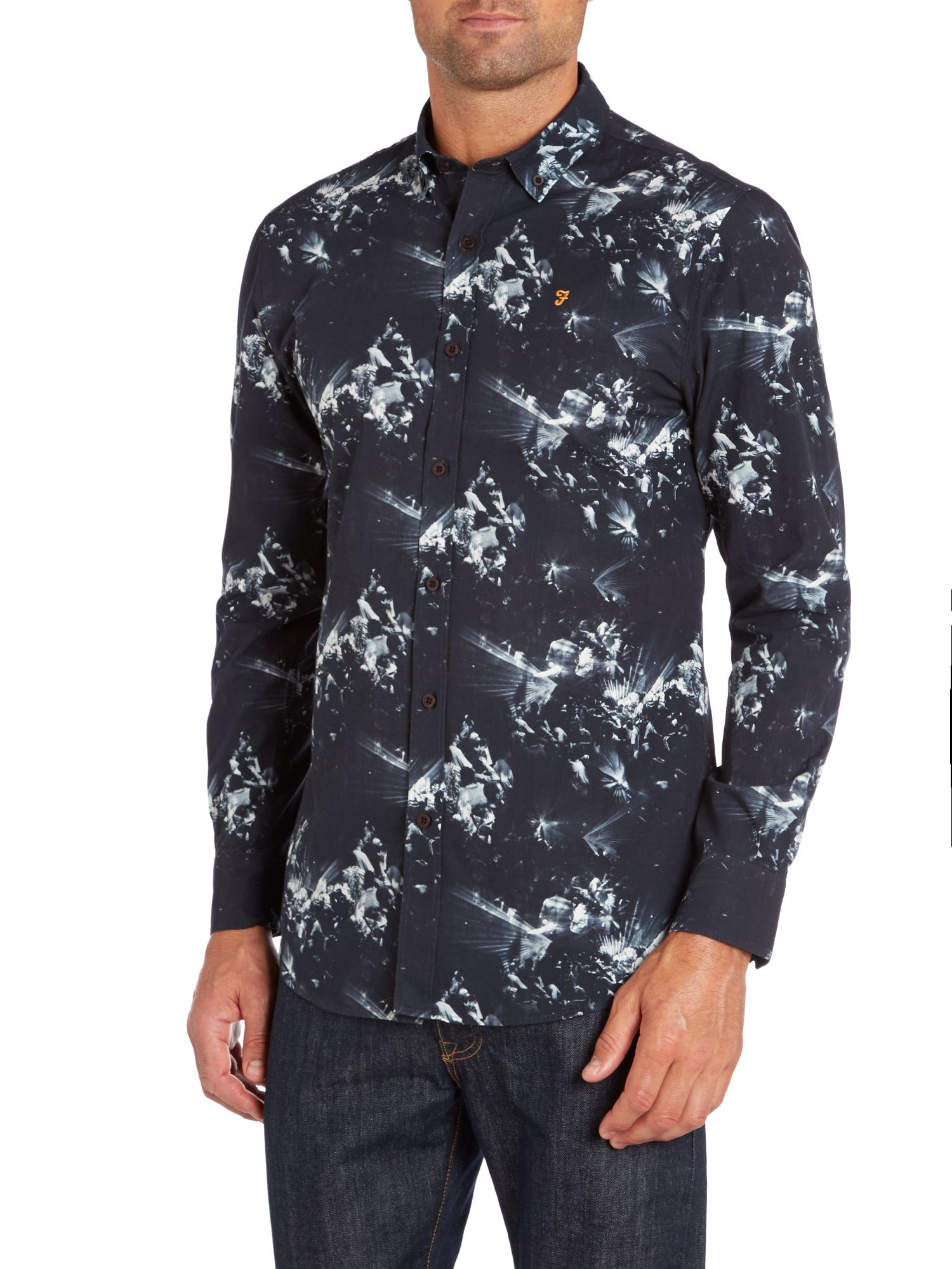 Watson photo rave print shirt