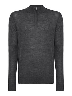 Men's Linea Machine Washable Merino Zip Neck Jumper