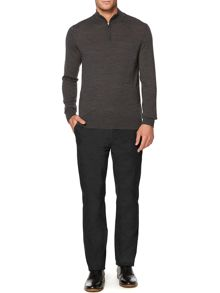 Machine Washable Merino Zip Neck Jumper