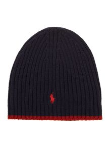 Boys knitted wool beanie hat