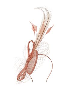 Teardrop feather and veil hairband