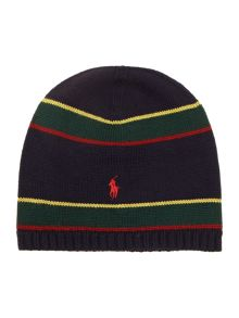 Boys striped beanie hat