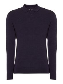 Linea Linea Machine Washable Merino Polo Collar Jumper