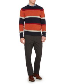 harvard stripe crew neck jumper
