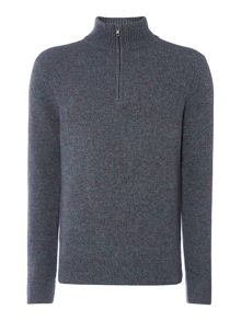 centaur zip funnel neck knit
