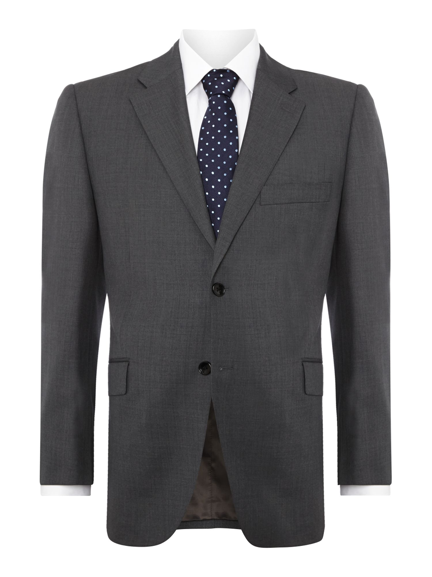 Men's Howick Tailored Fallon notch lapel nested suit, Grey