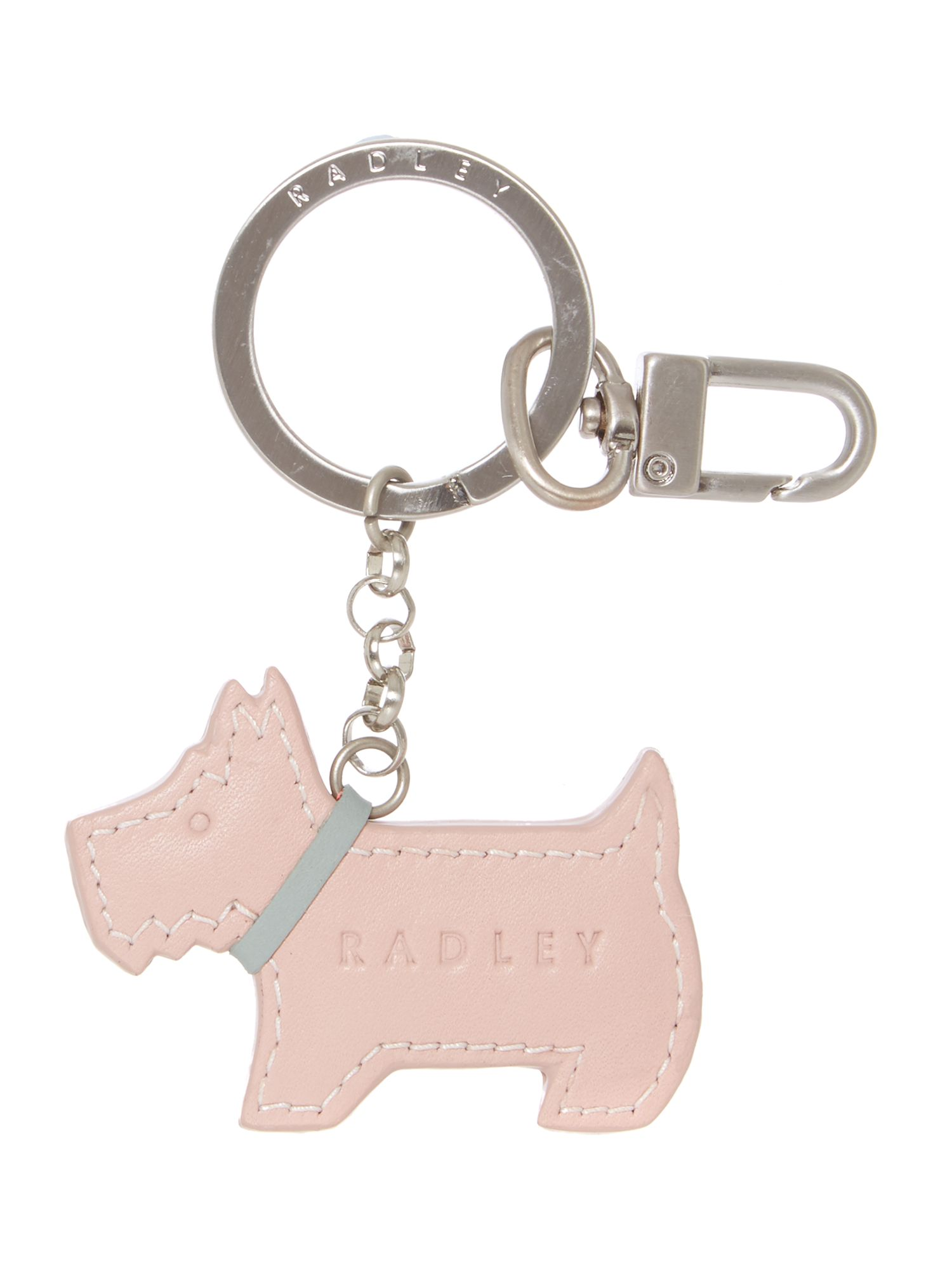 Pale pink go walkies key ring