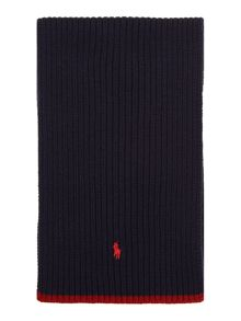 Boys knitted scarf with pony logo