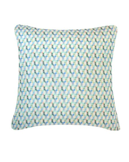 Nitin Goyal Small Braids cushion in blue 45x45