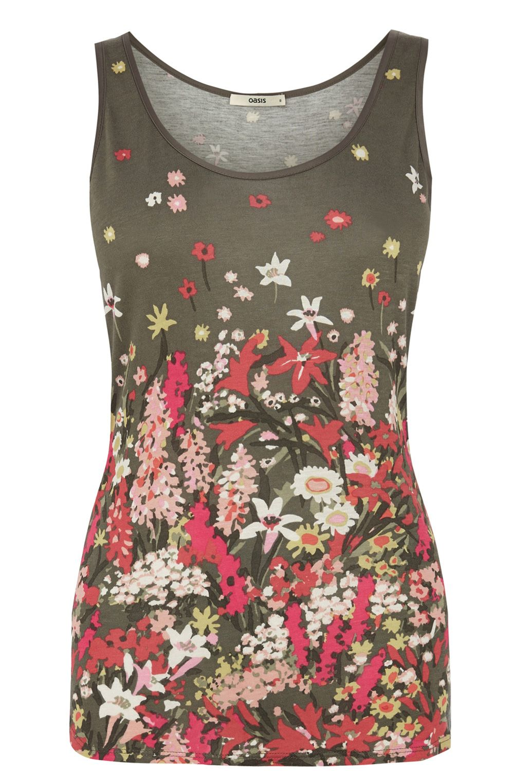 Utility floral placement vest top
