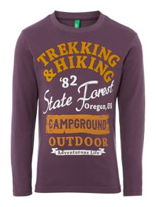 Boy`s trekking graphic top