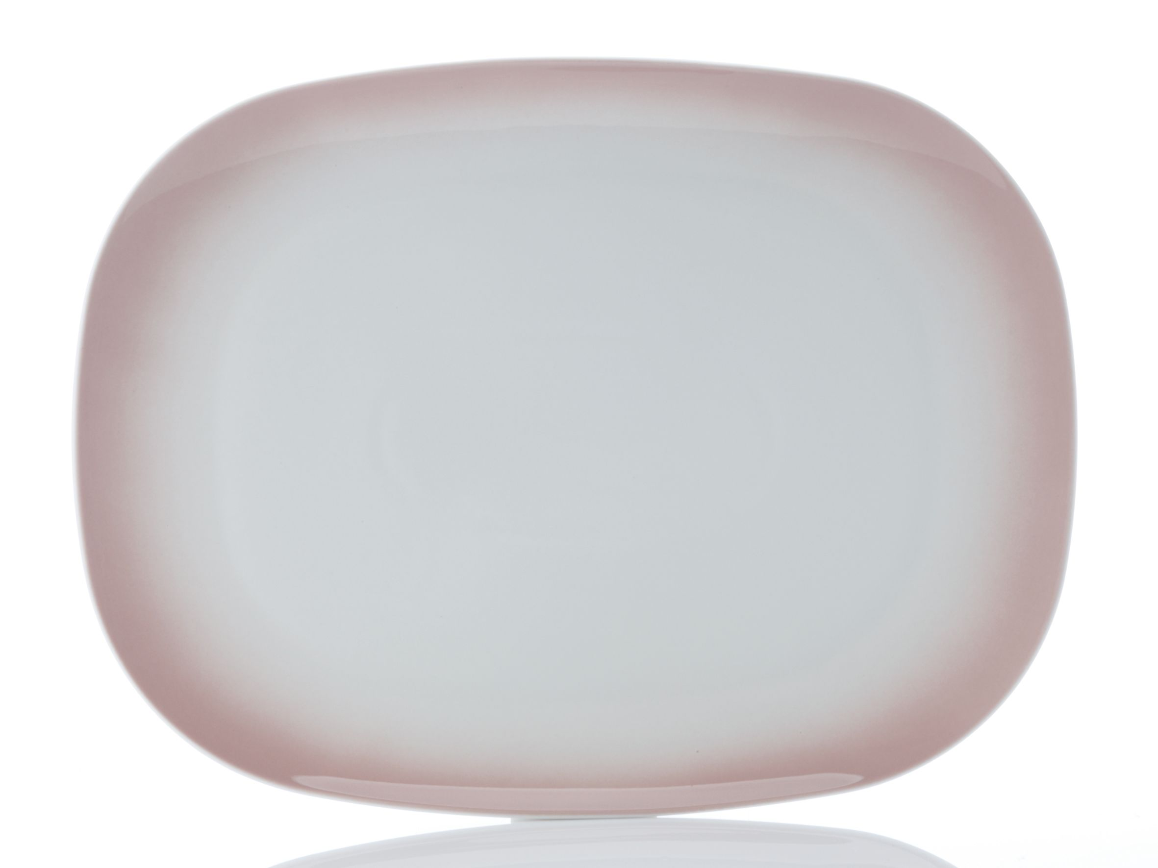 Bisou Rectangular Platter  Pink