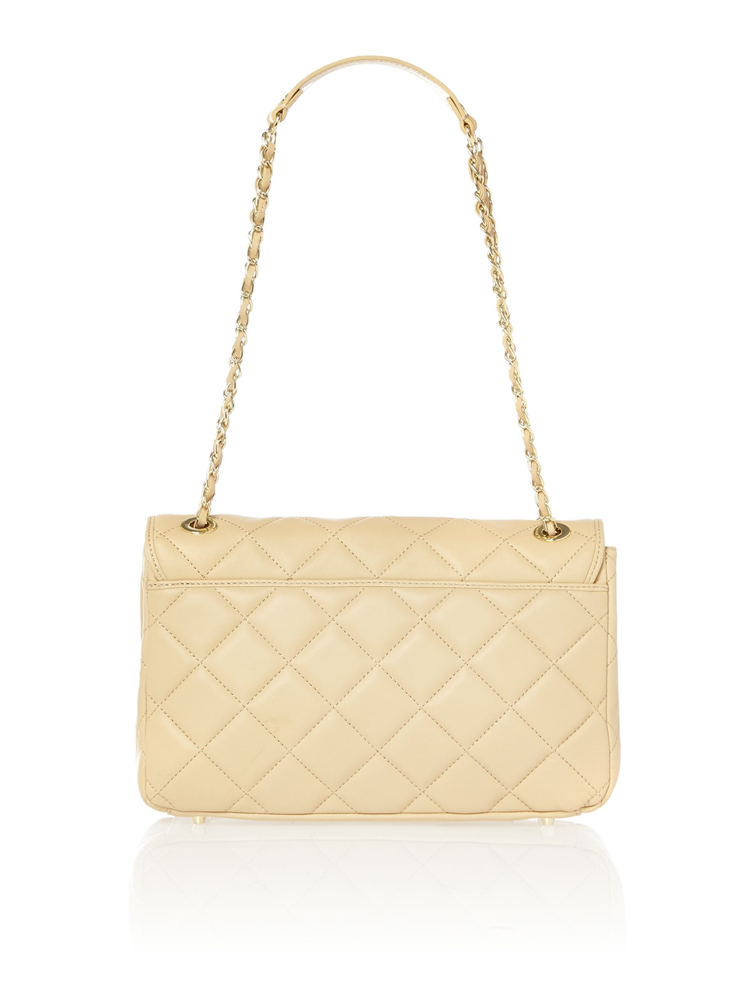 Quilted nappa sand shoulder bag