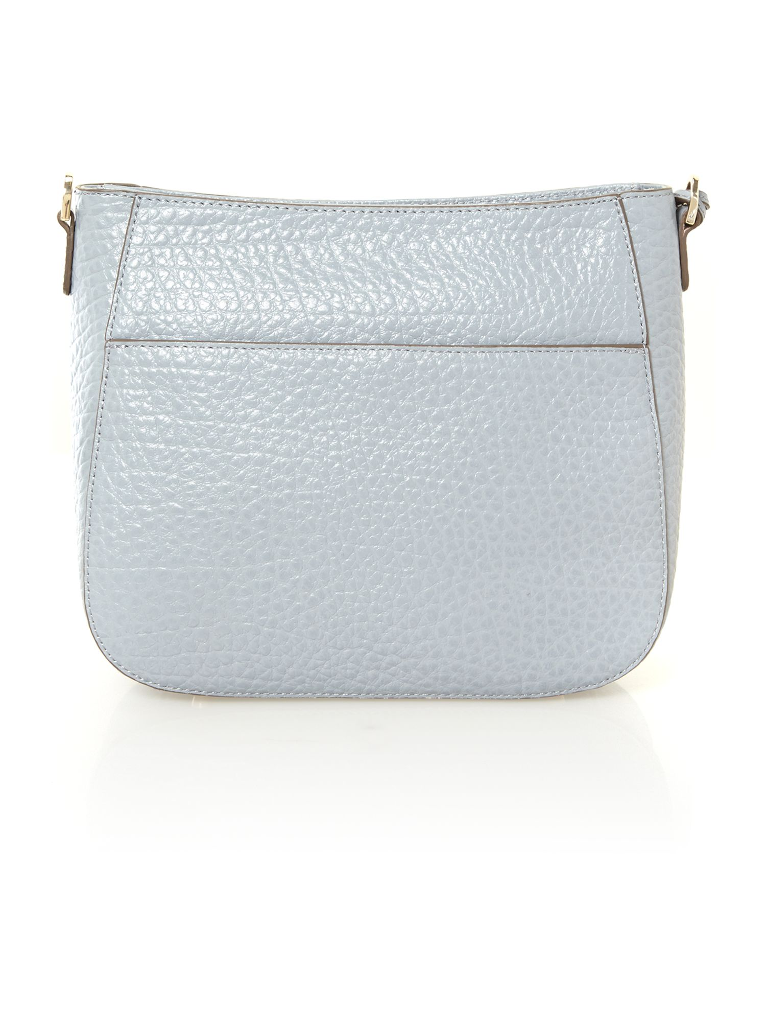 French grain grey crossbody bag