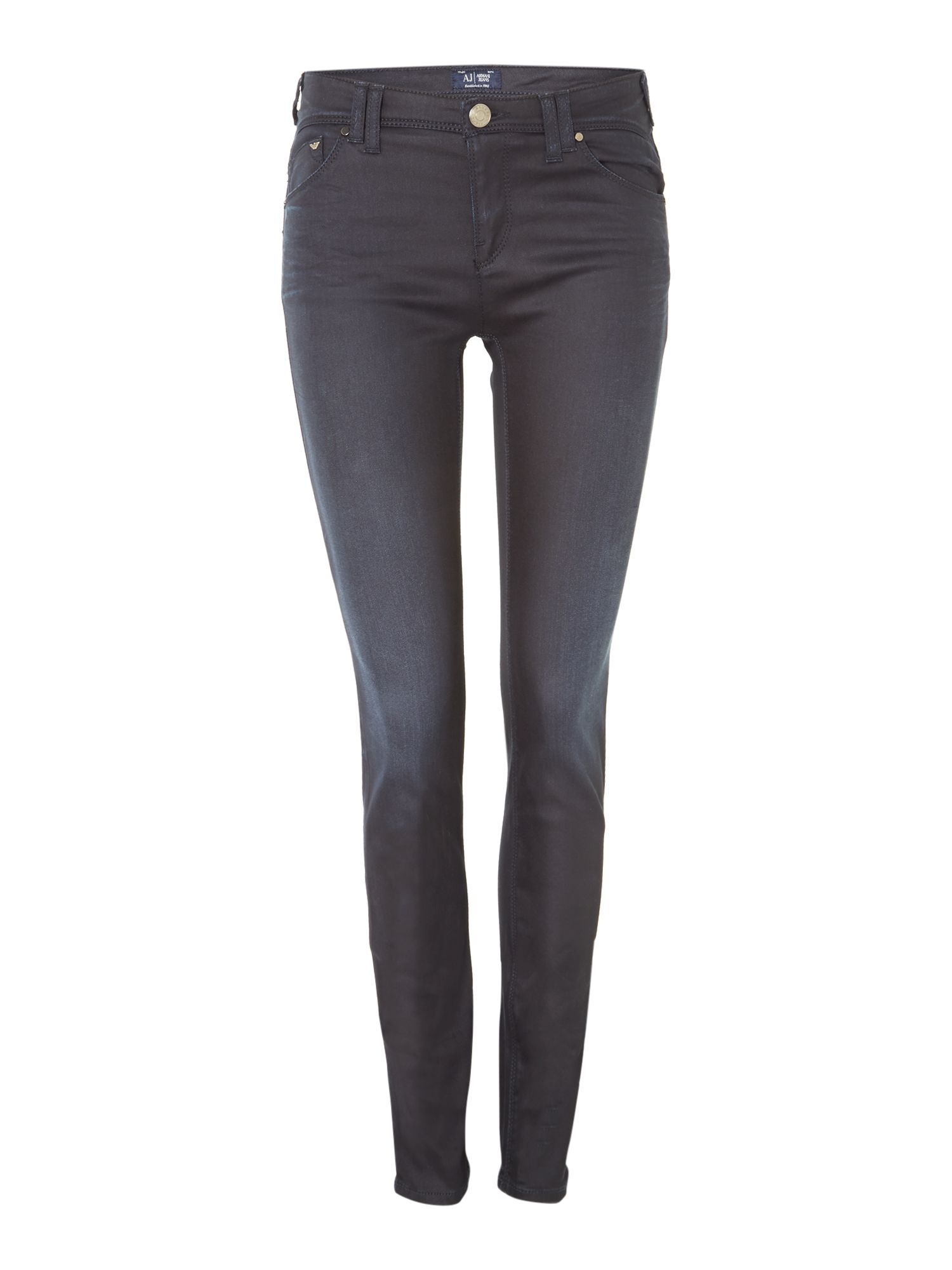 J28 coated skinny jeans