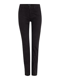 J18 high-rise slim leg reptile effect jeans