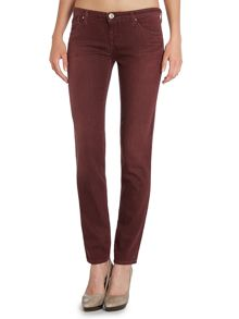 J06 low-rise skinny coloured jeans