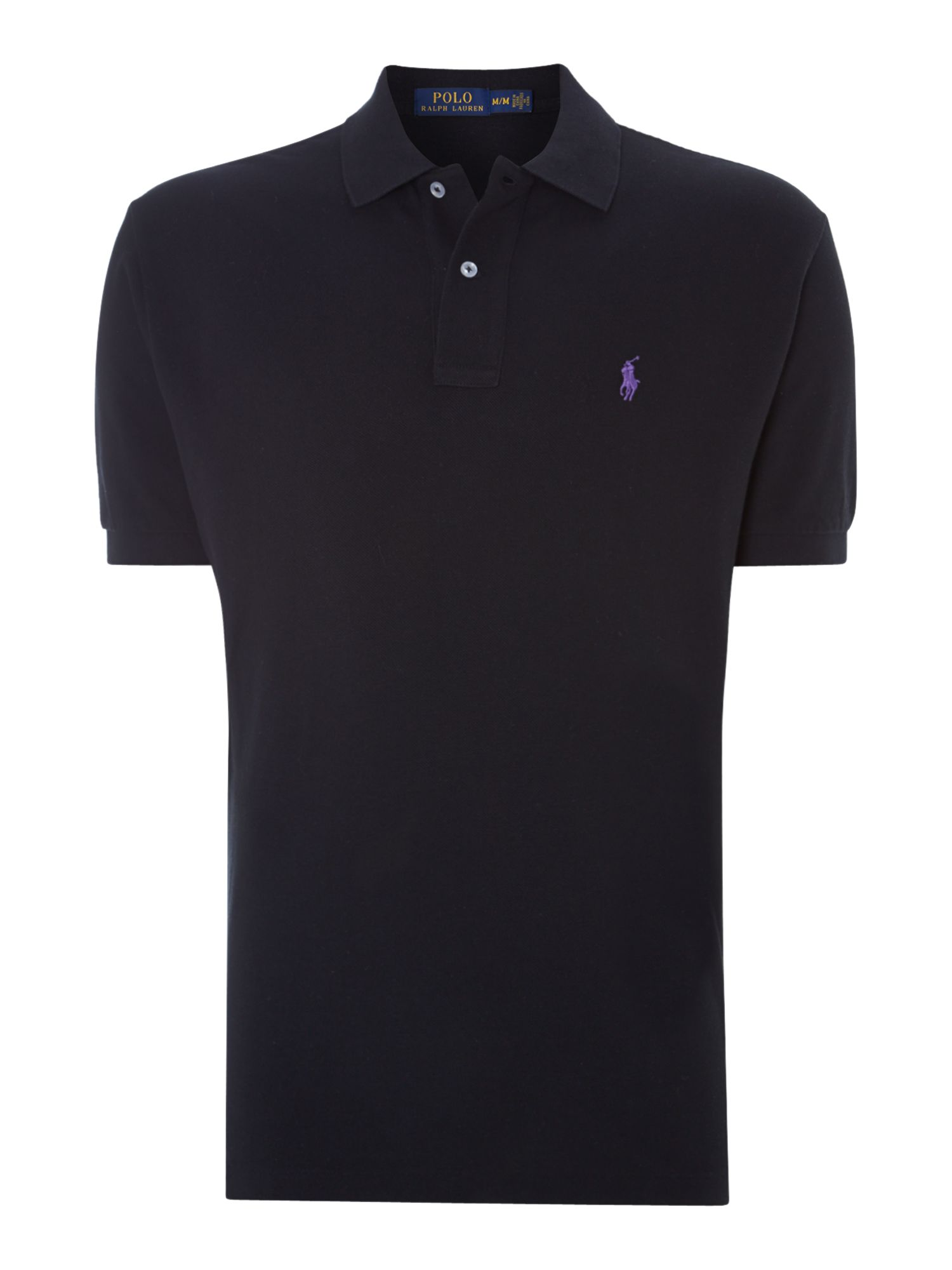 Classic fit knit collar polo shirt