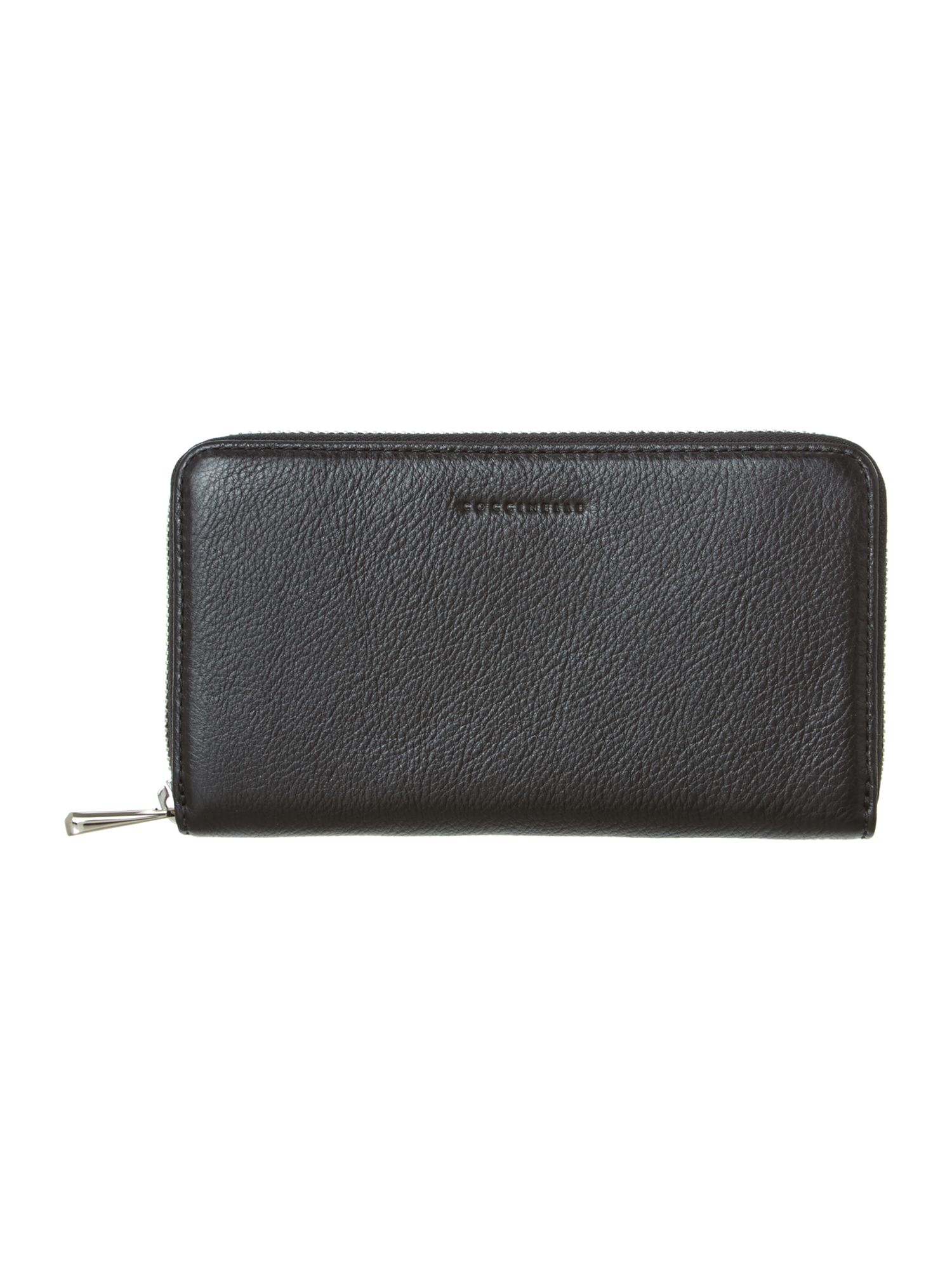 Black large zip around purse