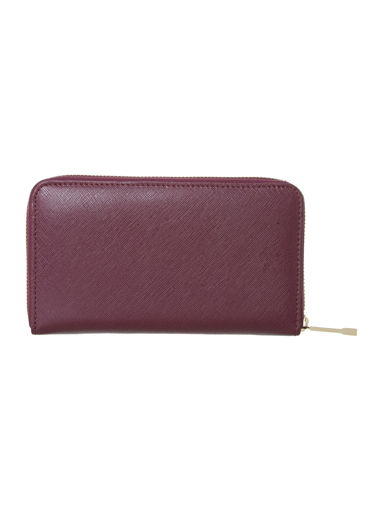 Purple large zip around purse
