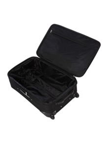 Brixham black 2 wheel soft medium suitcase