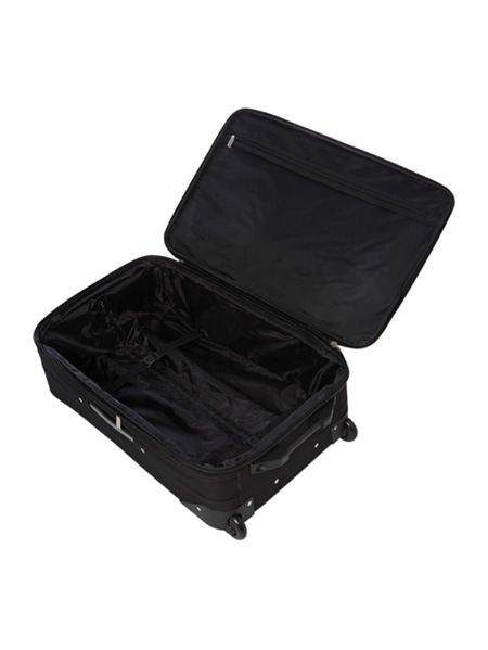 Linea Brixham black 2 wheel soft medium suitcase