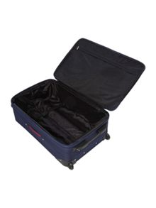 Brixham navy 2 wheel large suitcase
