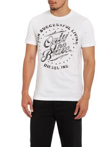 T-Balder only the brave circular logo t shirt