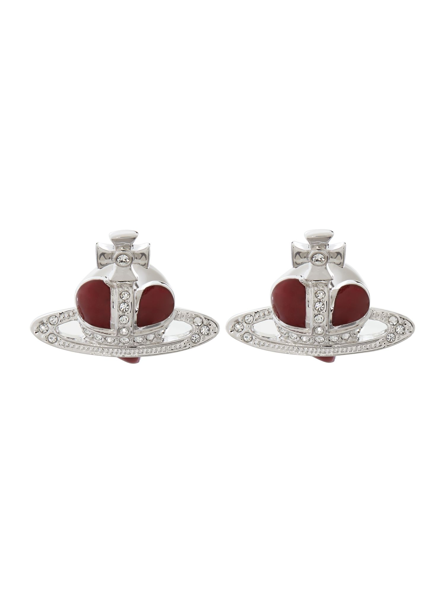 Diamante heart cufflinkd