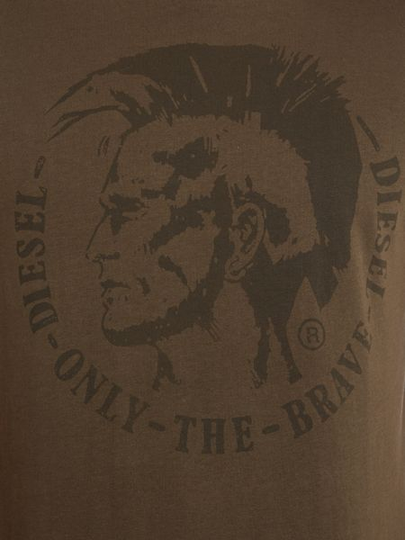 Crew neck mohican head printed t-shirt