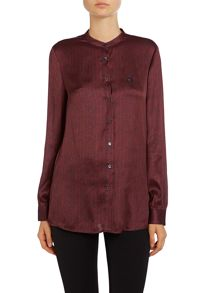 Long sleeve silk pattern shirt