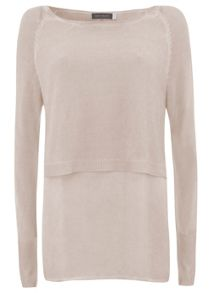 Nude Overdyed Crop Knit & Shirt Tails