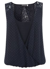 Ink Dobby Lace Top