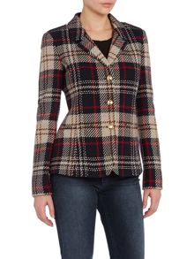 Tweed checked jacket