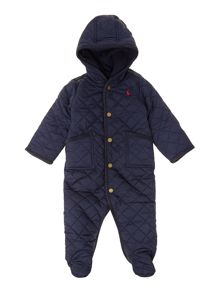 Baby boys quilted snowsuit