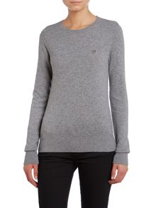 Long sleeve knit top with basic logo