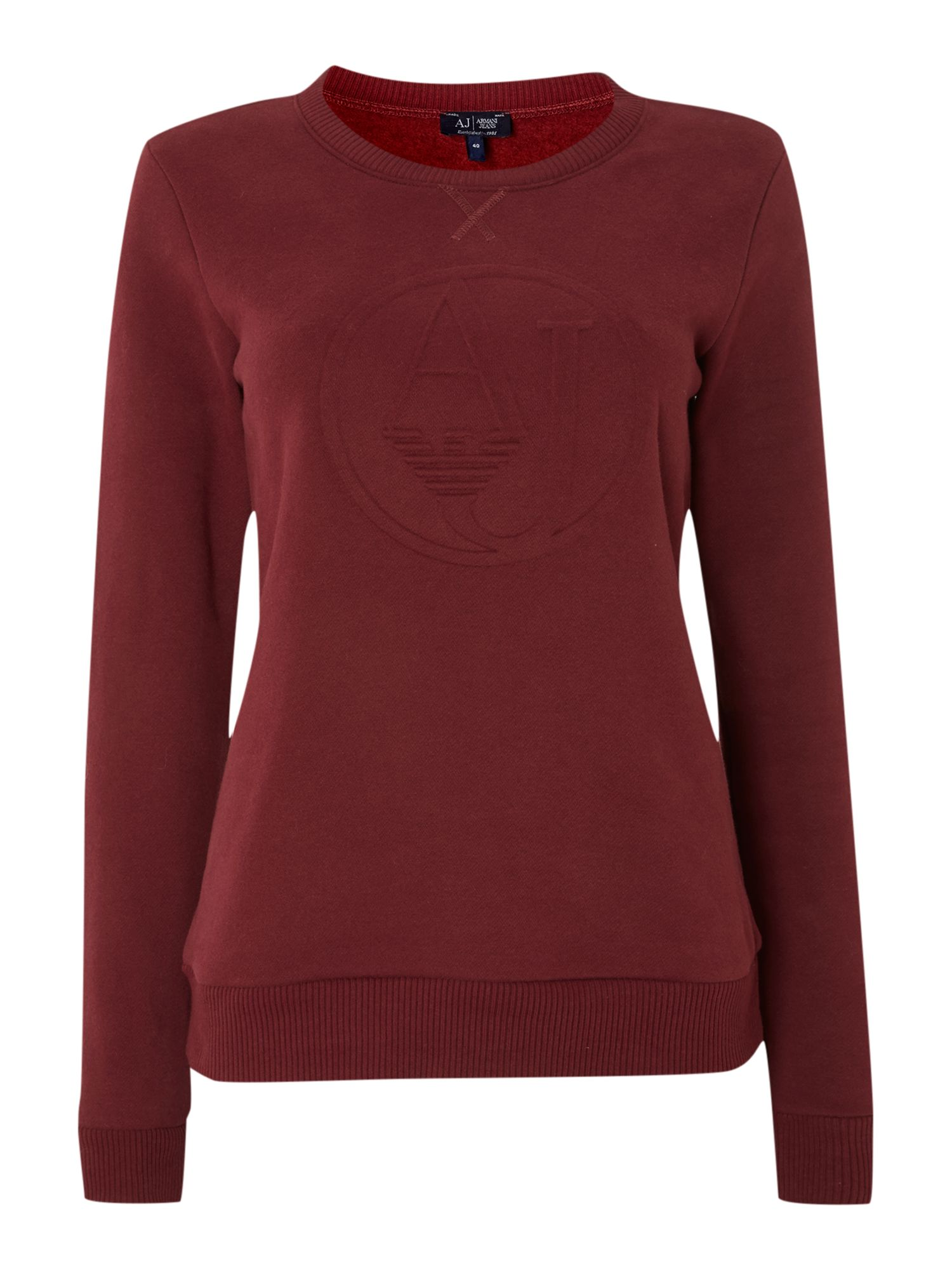 Long sleeve sweat with embossed logo