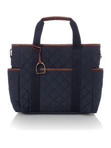 Quilted changing bag