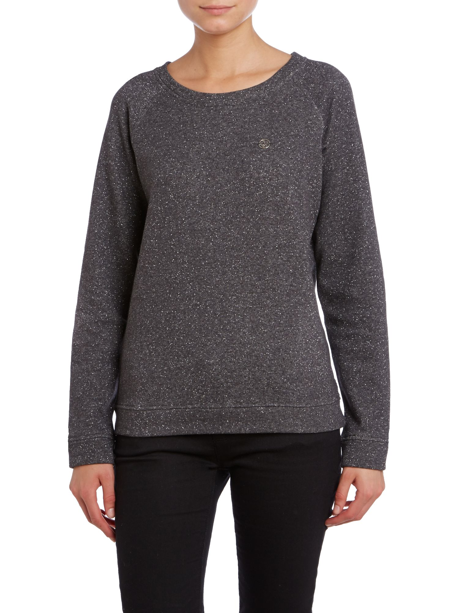 Long sleeve sparkle sweat top