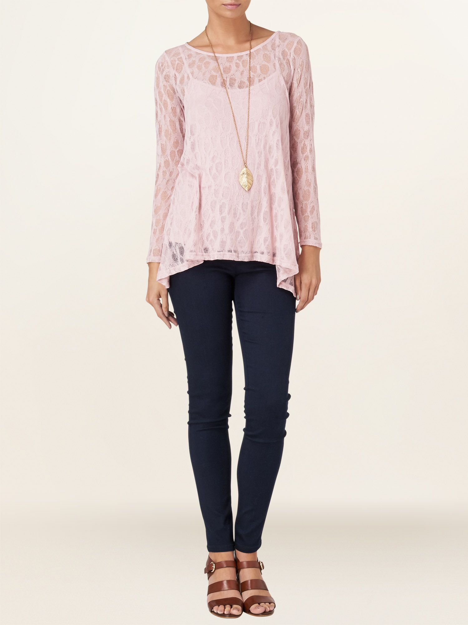 Plain pointelle top