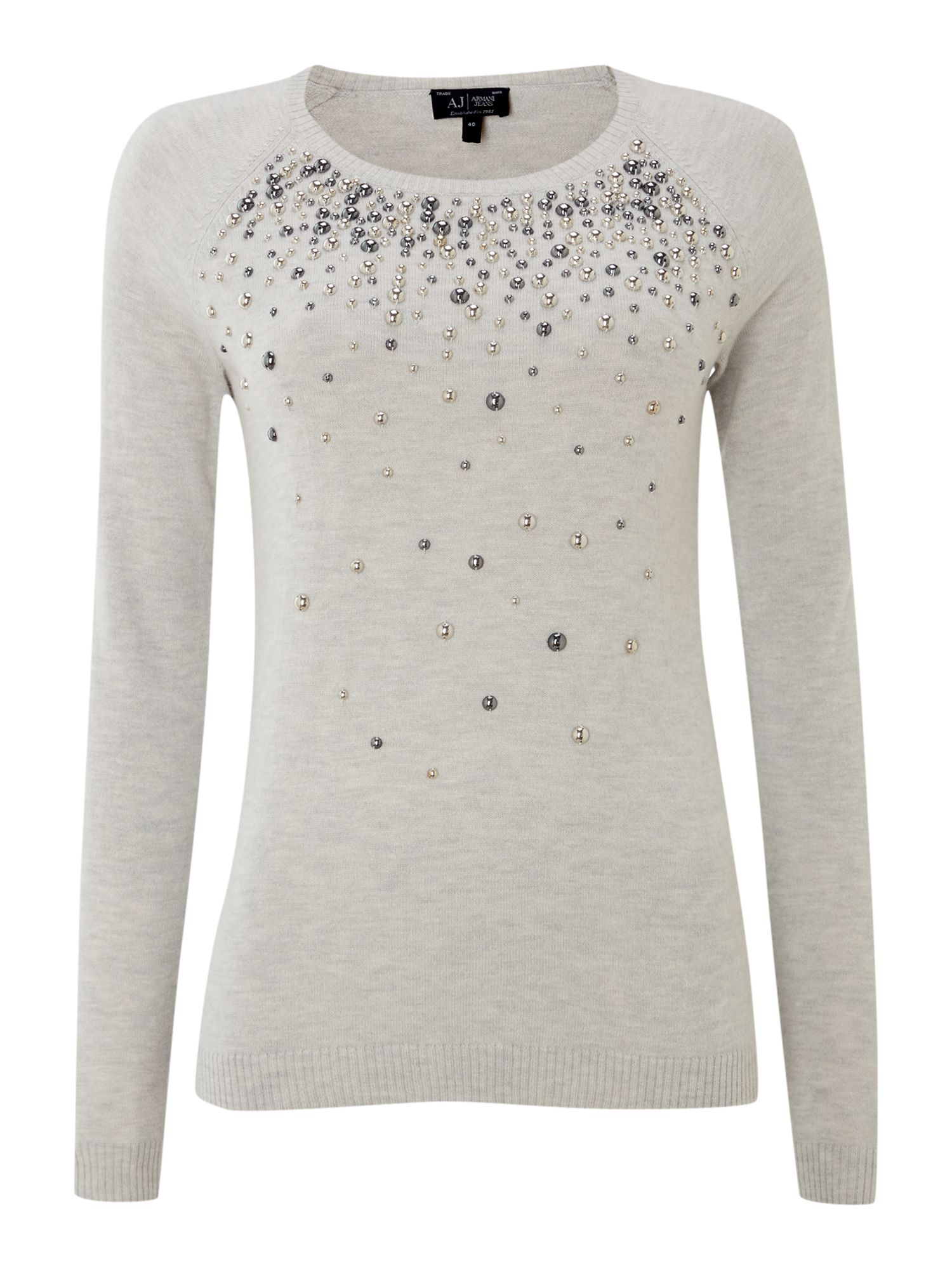 Long sleeve knit with all over studs