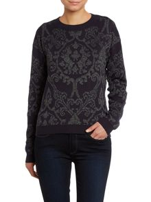 Long sleeve 3D jacquard knit