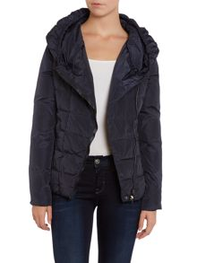 Short padded jacket with hood