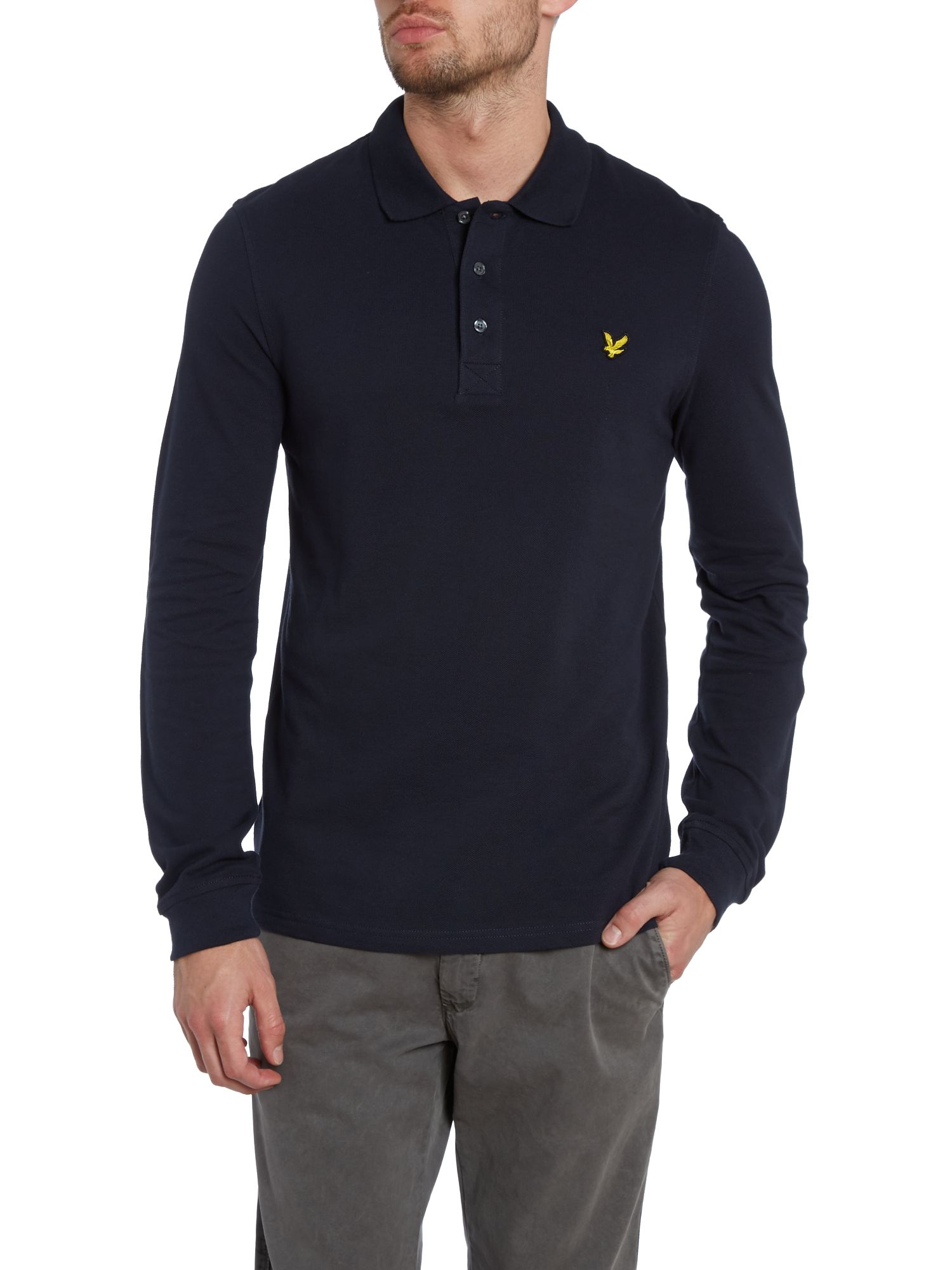 Regular fit classic long sleeve polo shirt