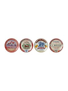Linea Cheese & wine set of 4 plates